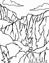 Coloring Yosemite Park National Pages Glacier Valley Death Parks Printable Template Getcolorings Sketch Print sketch template