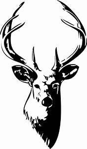 Buck head vinyl wall art decal clipart best
