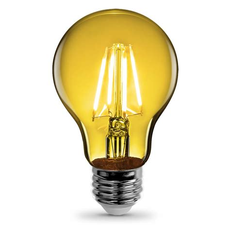 feit electric 3 6 watt yellow a19 filament led light bulb