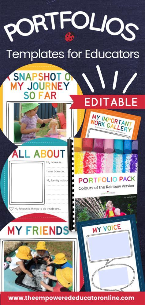 child portfolio learning journal templates  childcare