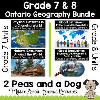 grade    ontario curriculum geography bundle