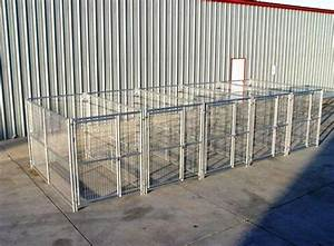 5 run heavy duty dog kennel 539x1039x639 steel wire construction With metal dog kennel and run