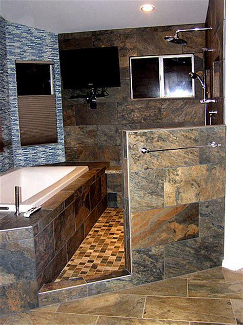 master bath  remodel wet room area contemporary