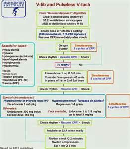 ACLS Algorithm Pulseless Ventricular Tachycardia