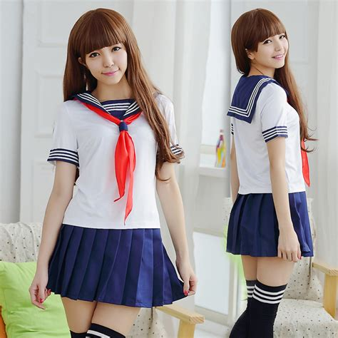 Popular Japanese Sailor School Uniform-Buy Cheap Japanese Sailor School Uniform lots from China ...
