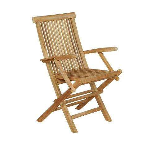 fauteuil pliant de jardin en teck grade a wood en stock