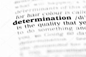 Determination word dictionary — Stock Photo © lambroskazan ...