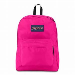 JanSport SuperBreak School Backpack - CYBER PINK