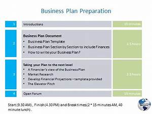 business plan workshops With preparing a business plan template