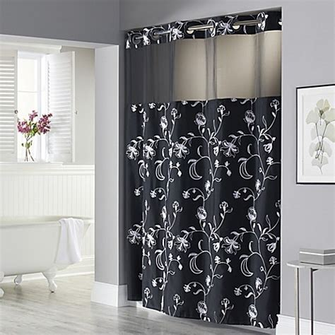 Hookless® 71 Inch x 74 Inch Fiona Shower Curtain and Liner
