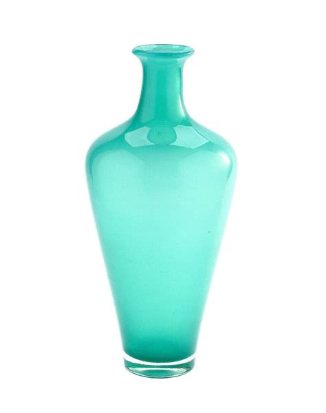 Glass Vases by New 15 Quot Large Blown Glass Vase Blue Green