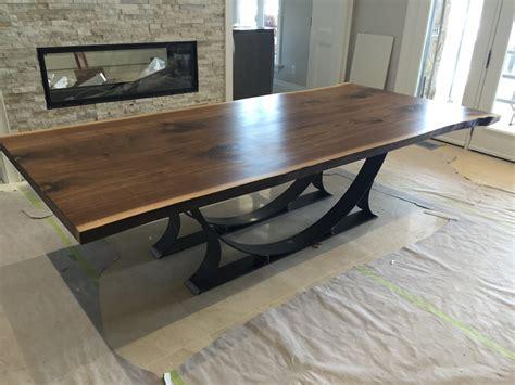 live edge black walnut dining table live edge black walnut dining table free shipping by