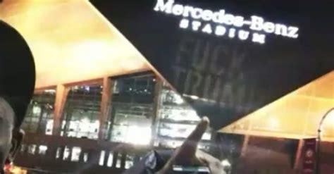 projected  huge  trump  mercedes benz