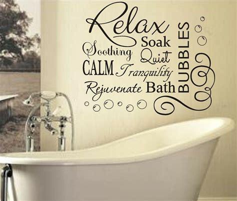 Bathroom Quotes Uk relax soak bubbles bath ar quote wall sticker decal
