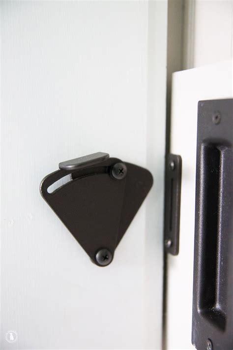 diy add  lock   barn door doors bathroom barn