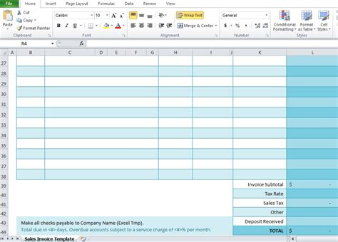 sales template excel free sales invoice template for excel excel tmp