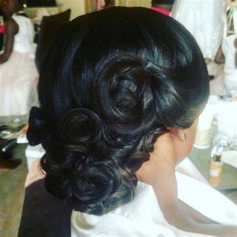 Sew In Updo Hairstyles by Updo Sew In Weave Wedding Hair Yelp