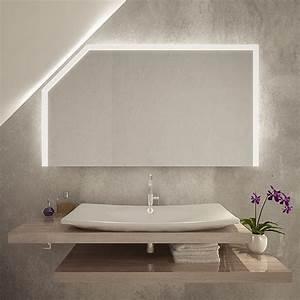 Spiegel Mit Schräge : nagoya led badspiegel mit dachschr ge online kaufen ~ Michelbontemps.com Haus und Dekorationen