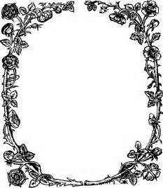 Rose Border Frame Transparent