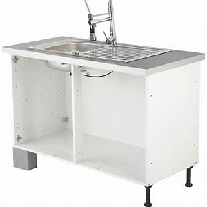 caisson de cuisine sous evier se80 delinia blanc l80 x h85 With meuble cuisine bas 120 cm 11 meuble de cuisine sous evier rouge 2 portes delice h 70 x