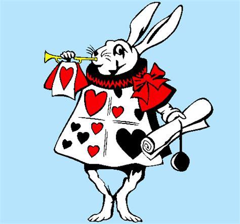 Dibujo de Conejo de Alicia en el país de las maravillas
