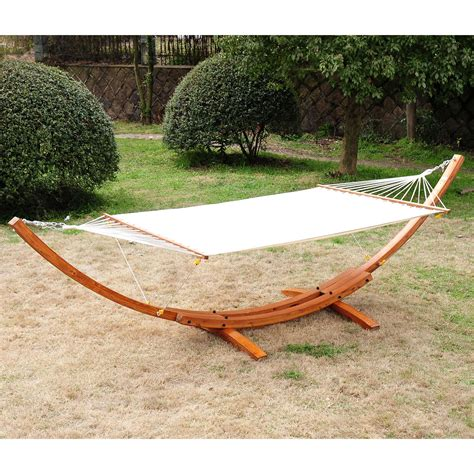 wood hammock stand outsunny cypress wooden arc hammock stand with hammock