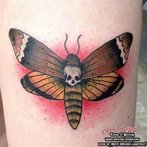 Arm Old School Moth Tattoo by Rock n Roll Tattoo