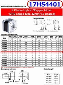 17hs4401 - 2 Phase Hybrid Stepper Motor