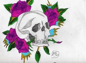 Tete De Mort Fleur : tete de mort avec des fleurs manga mania ~ Mglfilm.com Idées de Décoration