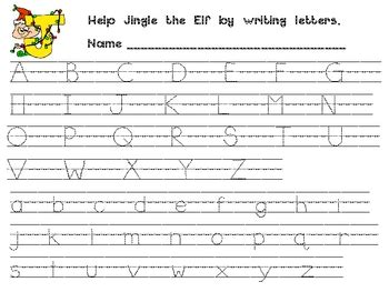 Christmas Alphabet Handwriting Practice For Kindergarten Or 1st Grade