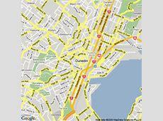 Map of Dunedin, New Zealand Hotels Accommodation