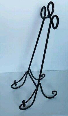 large solid wrought iron plateartbook stand rack easel display  ebay