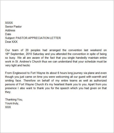 appreciation letter templates thank you letters for appreciation 9 download free