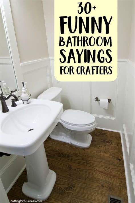 funny bathroom sayings  crafters painting
