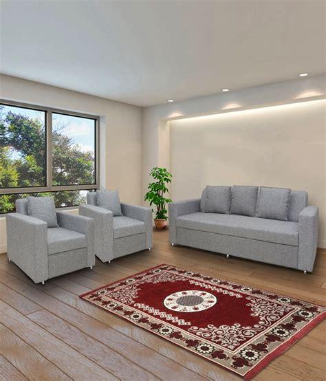 Living Room Sofa Set Price India by Bharat Lifestyle Lexus Fabric 3 1 1 Sofa Set Wood
