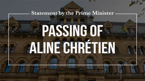 Statement by the Prime Minister on the passing of Aline ...