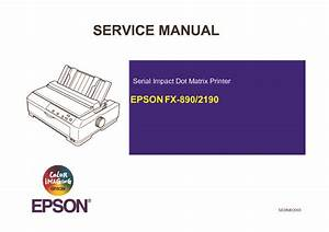 Epson Fx 890 Fx 890 Service Manual Pdf Diagramas De