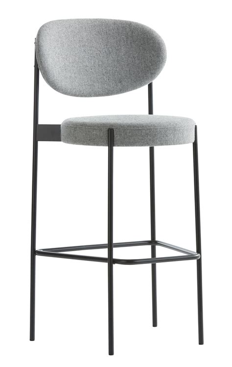 tabouret de bar series 430 verpan gris made in design