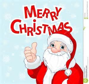 thumbs up santa claus greeting card stock vector image 35367864