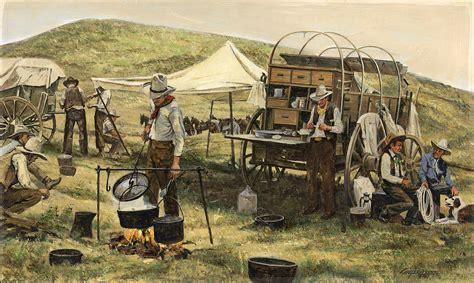 framed canvas prints for sale chuck wagon painting by don langeneckert