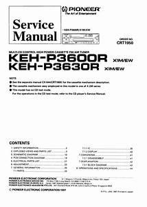 Pioneer Keh P3600r Keh P3630r