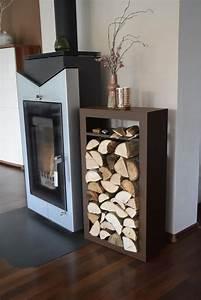 Kaminholzregal Außen Metall : kaminholzregal rechteck innenbereich mit anfeuerholzfach aus metall ~ Frokenaadalensverden.com Haus und Dekorationen