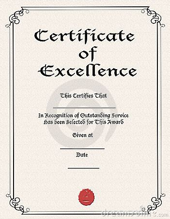 certificate  excellence royalty  stock image image