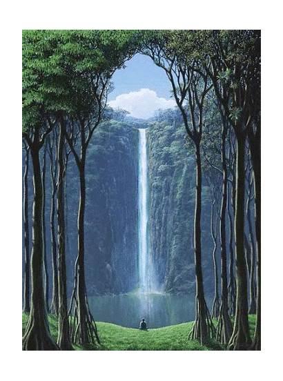 Nature Amazing Waterfall Mountain Landscape Waterfalls Serene