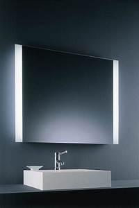 miroir carre lumineux double fluo baulmann leuchten With miroir lumineux sdb