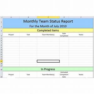 best photos of monthly status report template weekly With staff progress report template