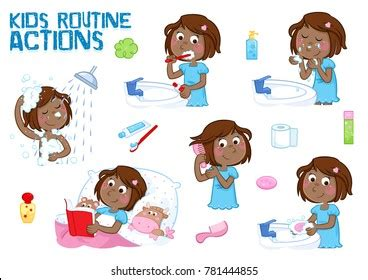 daily routine images stock  vectors shutterstock