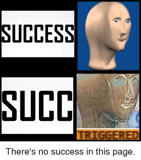 Succ Memes - success succ triggered there s no success in this page dank meme on sizzle