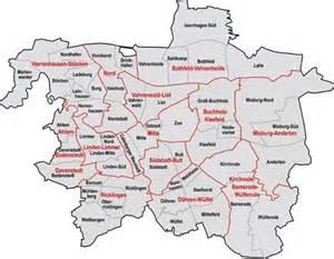 hannover fläche stadt hannover bezirke stadtteile karte stadtplan