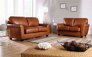 Tan leather sofas and sorrento ivory leather recliner for Tan leather sofa bed
